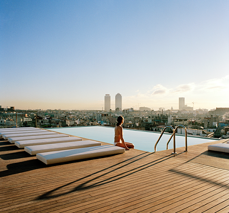 photo de piscine sur toit Barcelone