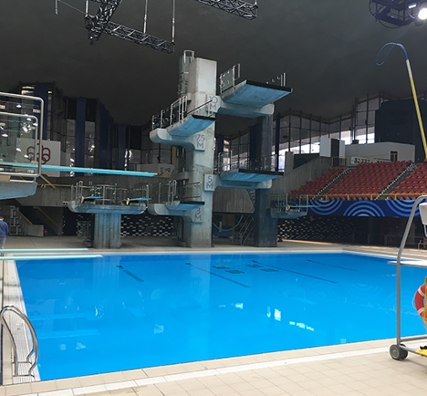 photo de piscine de compétition à Rio